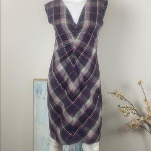 Ted Baker London Cotton Plaid Dress